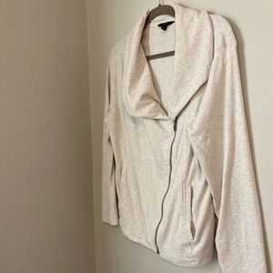 Banana Republic Knit Oatmeal Moto Jacket